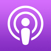 The Apple podcast app for iPhone